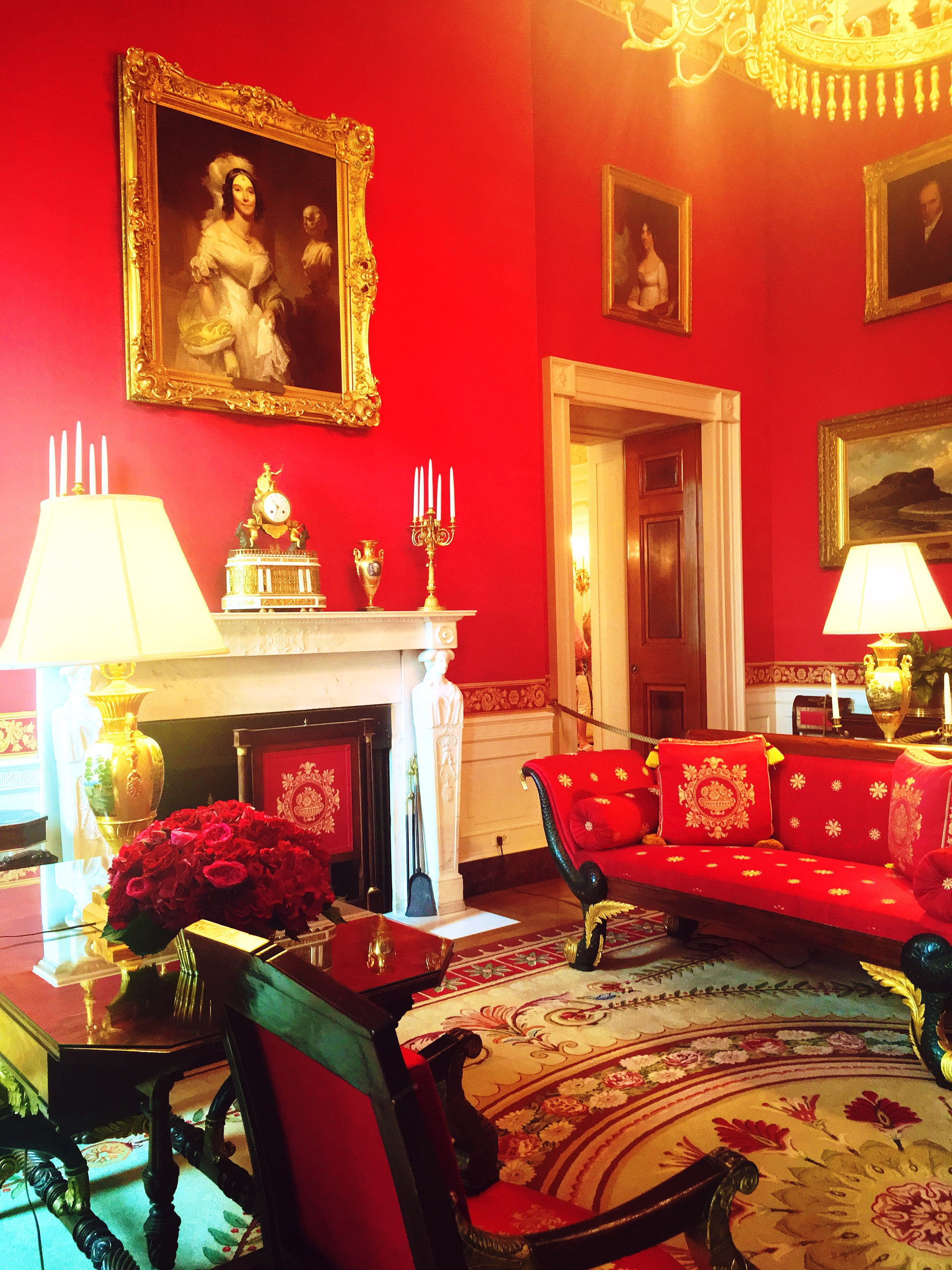 Angelica Singleton Van Buren was  that  b and knew it. Her portrait hangs above the mantle in the Red Room of the White House.