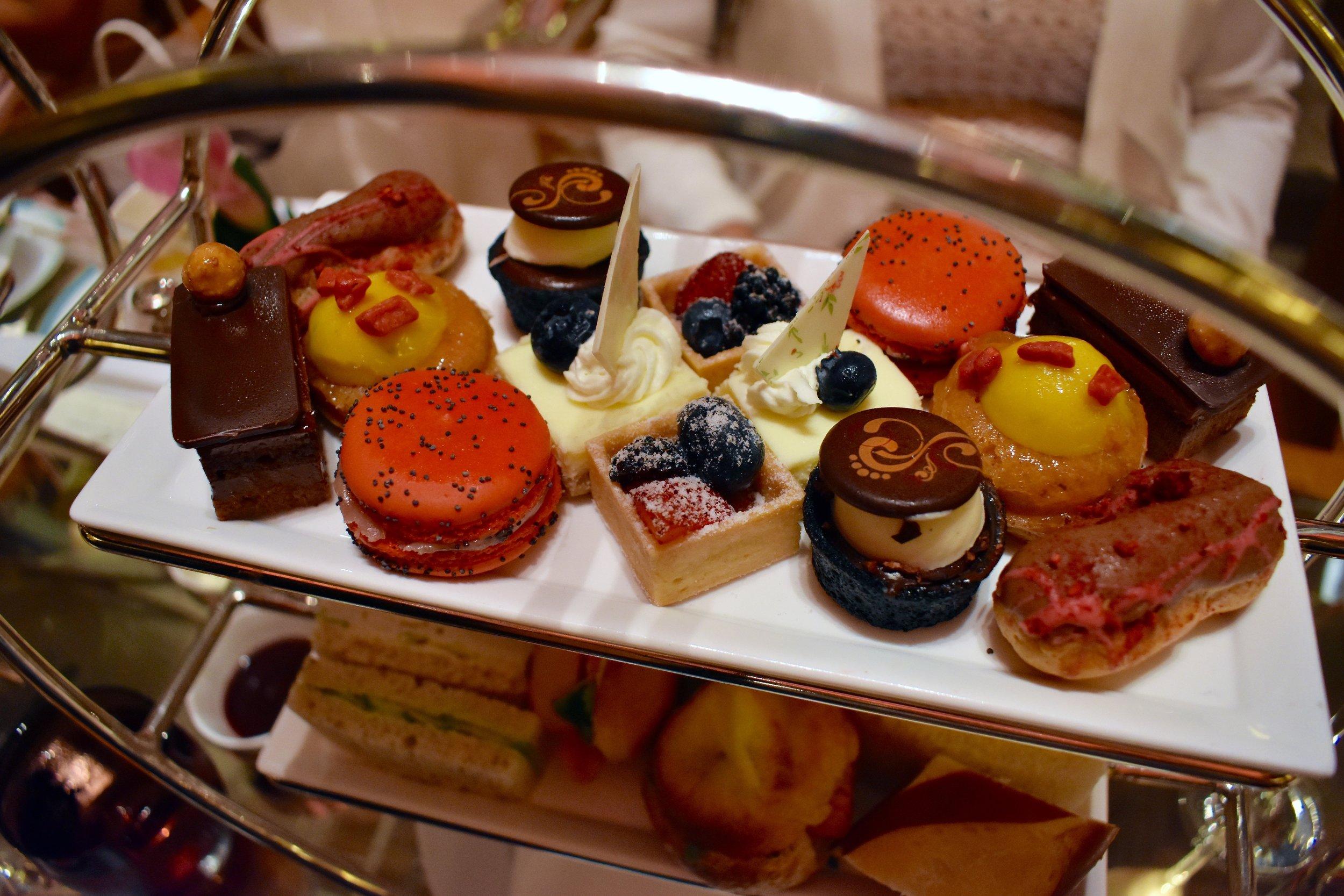 Sweet treats served during Tea.