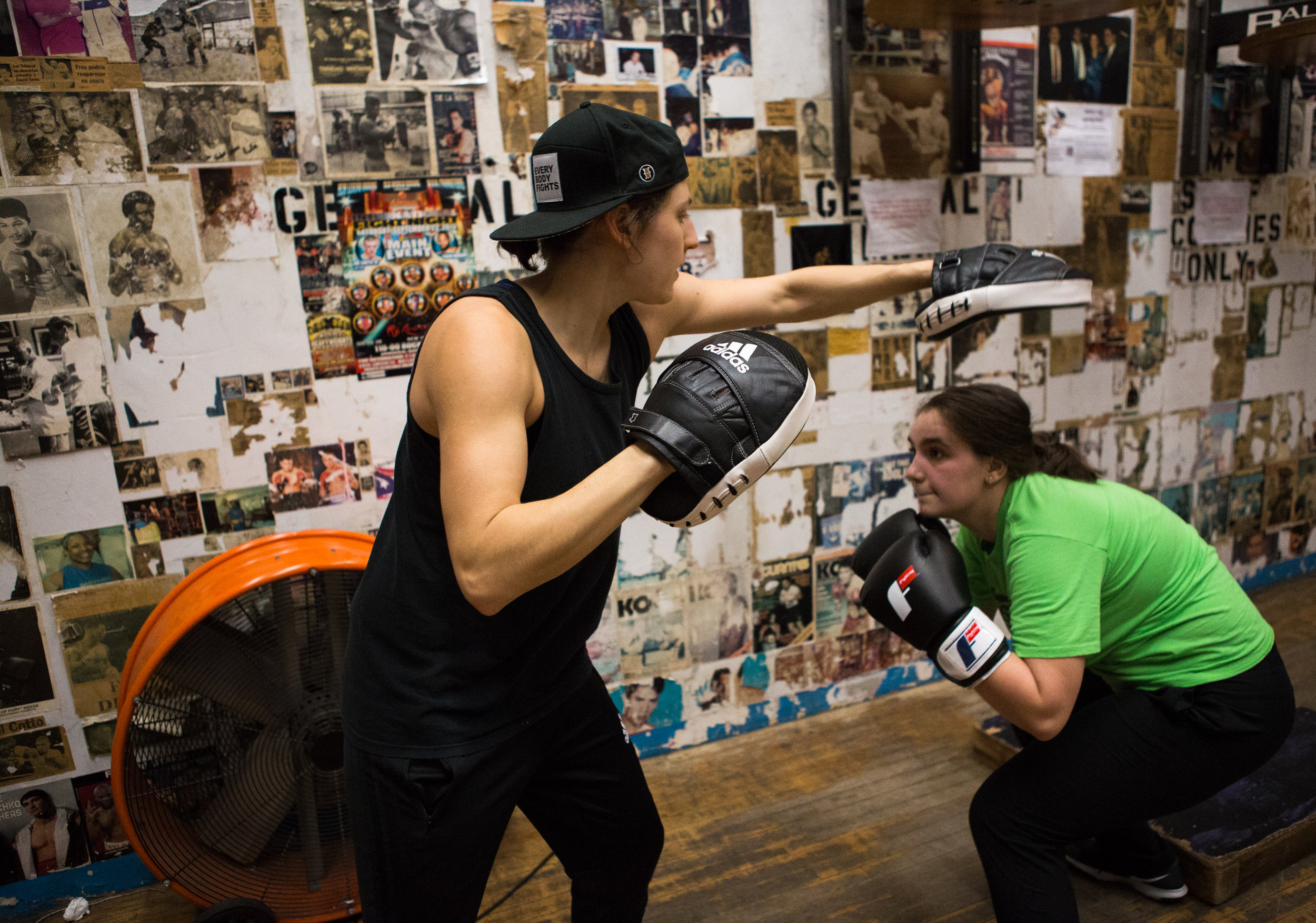 """Boxing has made me more confident. All the stress from school is gone and it's just me and the punching bag.""  – Xhesika, 17"