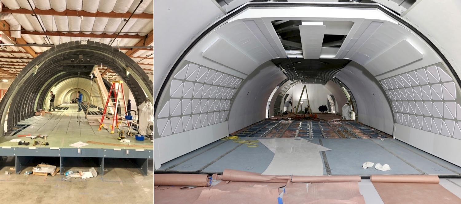 Building the prototype.  Images courtesy of Airbus Flytranspose