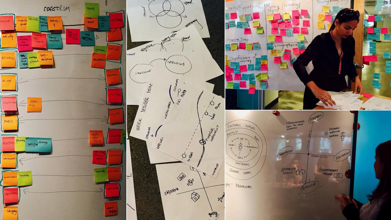 Participants working through their frameworks.