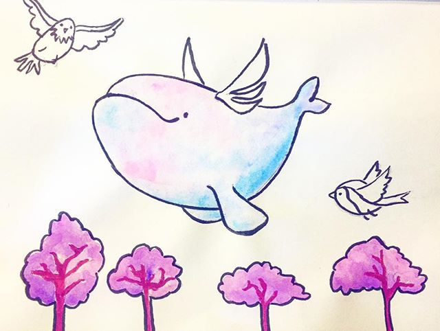 #31daysofdrawing #day5 #pinkdreams #whale #pink #dreaming #doodle #sketch #art #drawing #artist #artistofinstagram #drawingoftheday