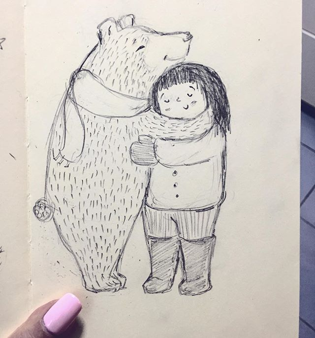 #31daysofdrawing #day11 #drawingoftheday #sketch #winter #cold #bearhug #dailysketch #illustration #childrensbook #artist #illustrator #instaart #artoftheday #instagood #creative #instagramart #instagramartist