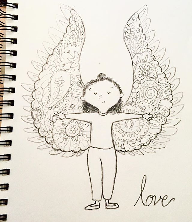 #31daysofdrawing #day12 #whatliftsyou #sketch #drawingoftheday #dailydrawing  #dailysketch #illustration #wings #fly #love #loveliftsme