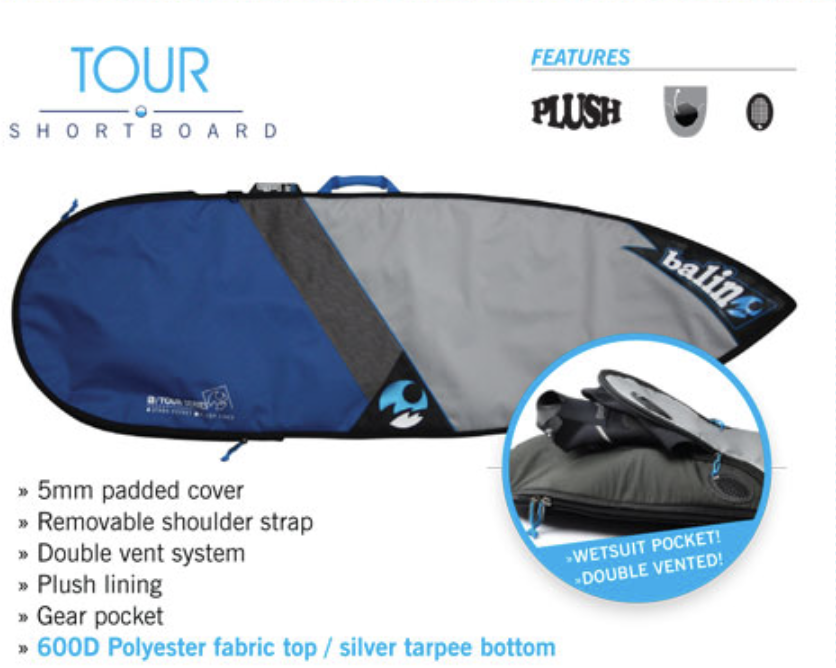 SUP Tour sizes and prices -      $49.95    Paddle Bag7'6
