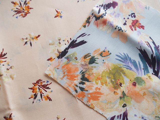 So pretty!  I am in love with these prints! #pattern #inspiration #florals #fabric # #textile #sewing