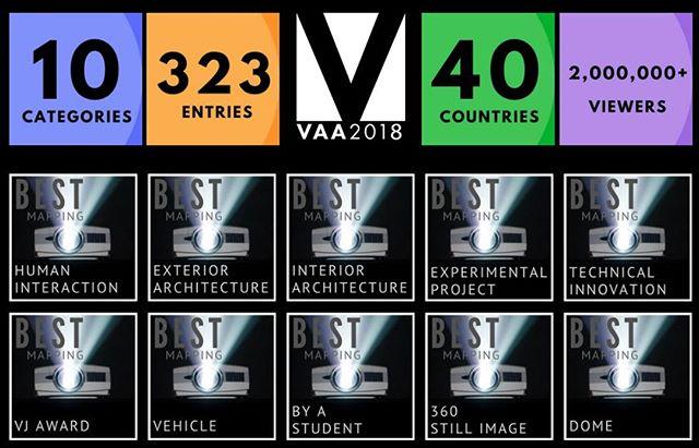 VAA 2018 at a glance! . . #projection #vj #vjunion #videomapping#videojockey #videoart #digitalart#digitalarts #digitaldesign #mapping#motiongraphics #visualartistawards#VAAS #projectionmappers #renders#resolume #madmapper #adobe #ai#avolites #d3 #hippotizer #graphics #art#lightdesign #pixels #inspiration #lasers