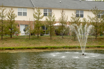 Fountain and Townhome