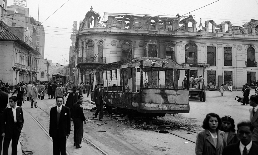 In April 1948, the assassination of Liberal politician Jorge Eliecer Gaitan provoked the Bogotazo rioting and sparked civil war.-   Source