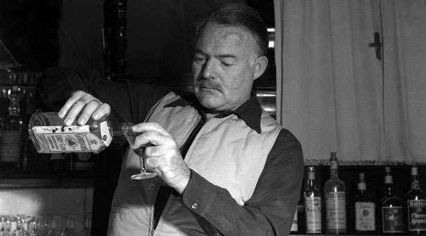 Ernest Hemingway in his natural environment. –   SOURCE