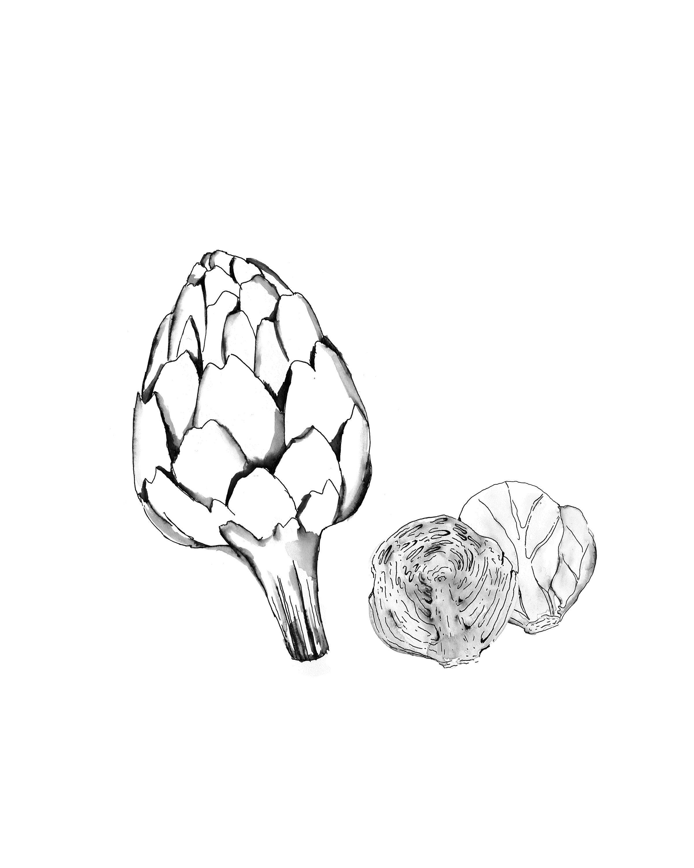 Artichoke and Brusell Sprouts