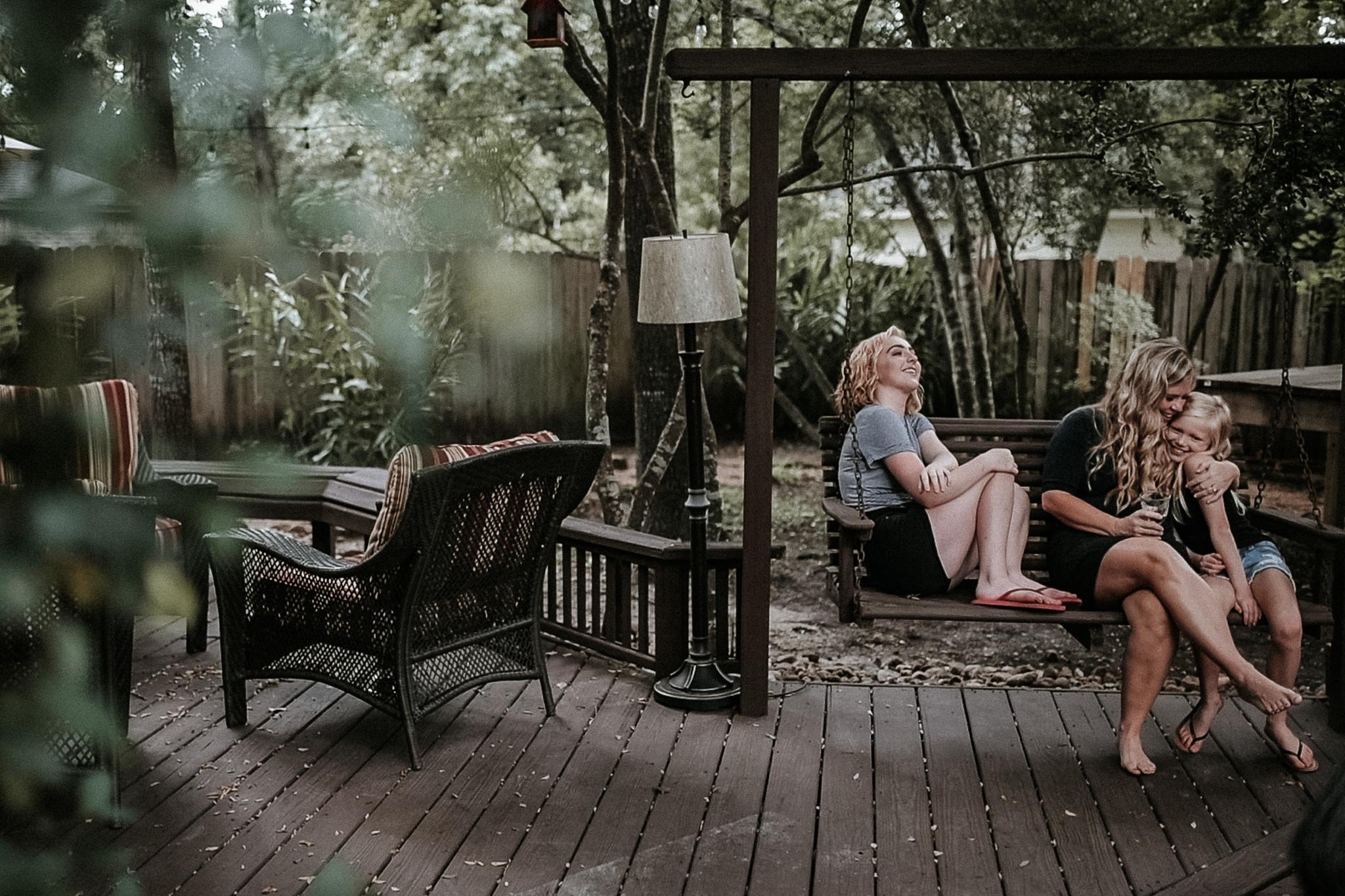 Good things happen on backyard swings…