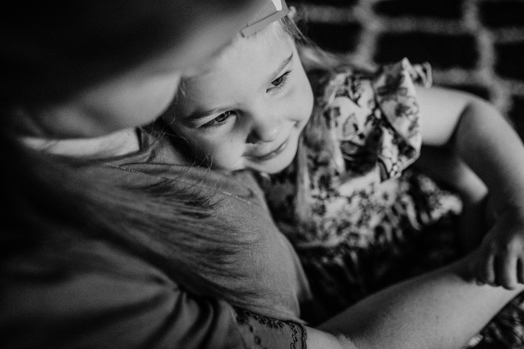 Kinsley snuggles with Mom. Another connection moment that as a Mother, I love…