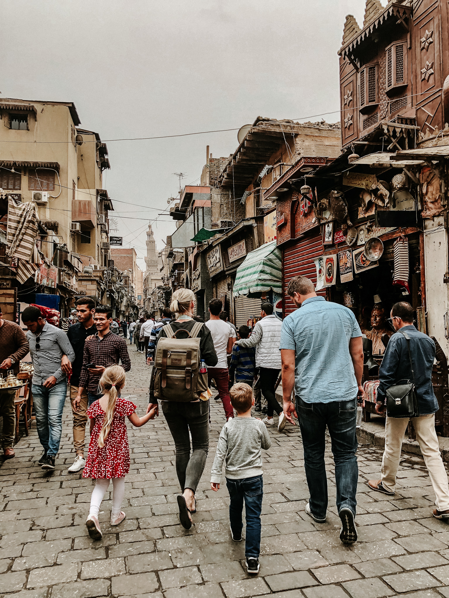 Exploring Old Cairo with my brother and nephew. (iPhone Photo Credit: Hope Livingston, SIL)