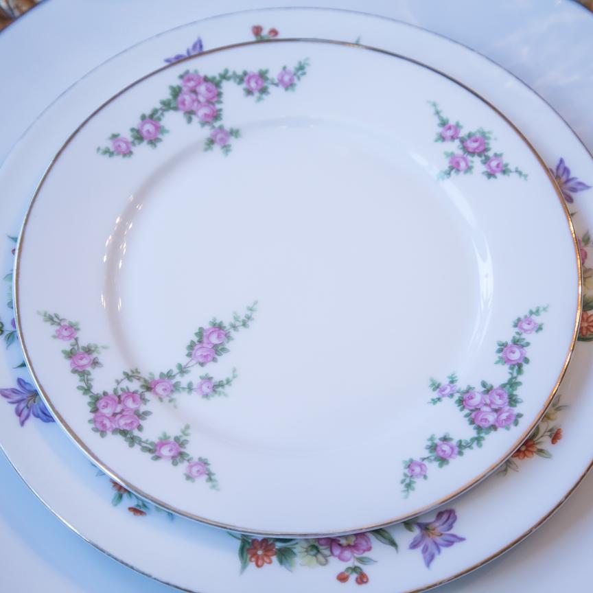 Mismatched China Plates