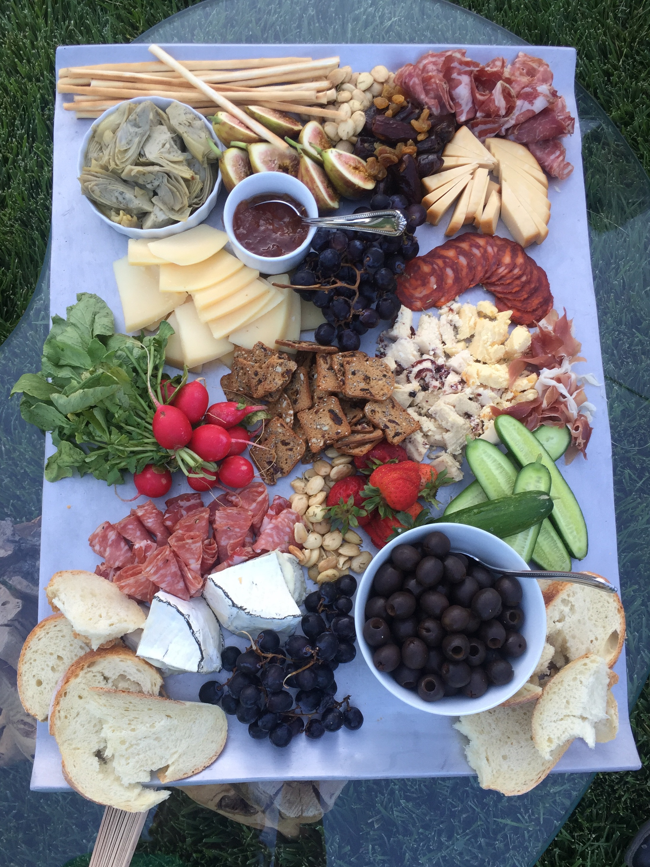 Wedding charcuterie board at a reception in Murrieta.