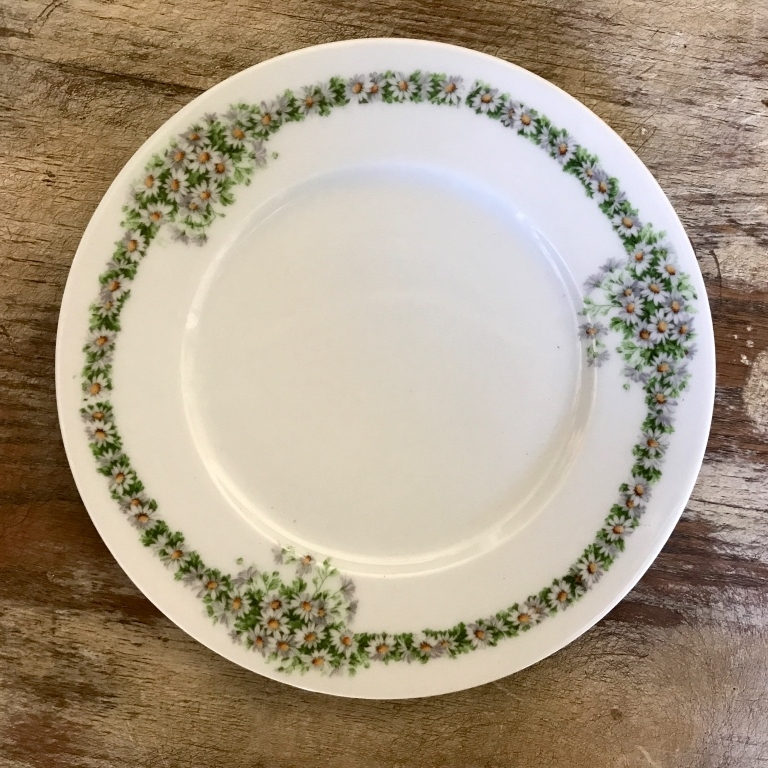 Vintage mismatched Hazelnut china plate. Salad and appetizers. Temecula Rentals.