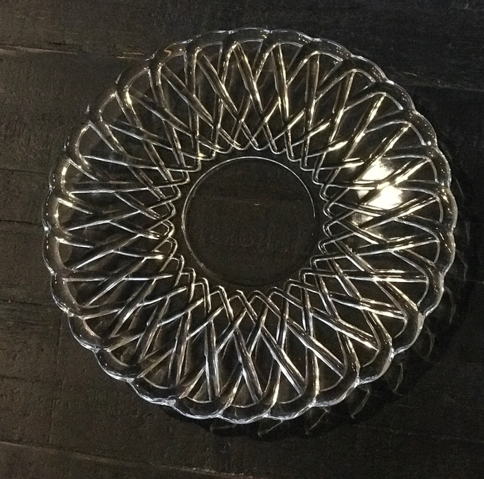 EAPC cut glass salad or dessert plate. Vintage mismatched plate rentals. Wedding rentals in Temecula Valley.