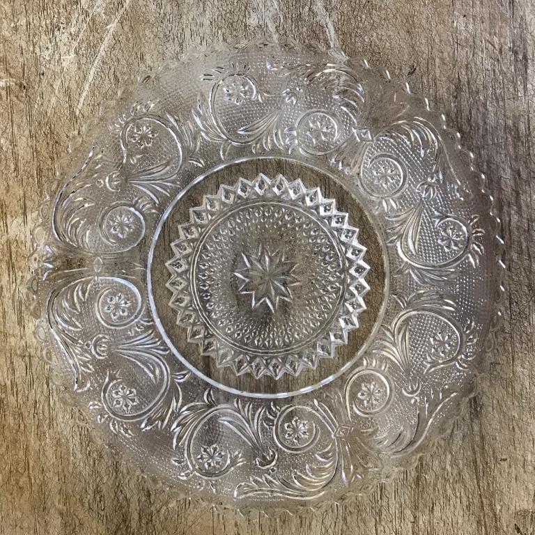 Bread or Dessert plate. Great for cake and other desserts. Vintage wedding rentals in the Temecula Valley..