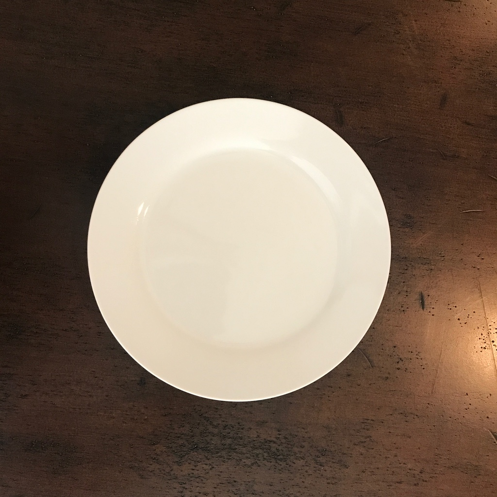 "Classic White Dinner Plate.    10.5"" china dinner plate. Basic but beautiful"