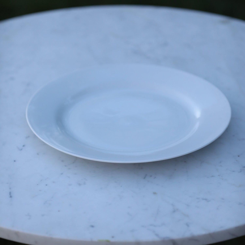 """White China Charger Plate   12"""" round white bone China.."""