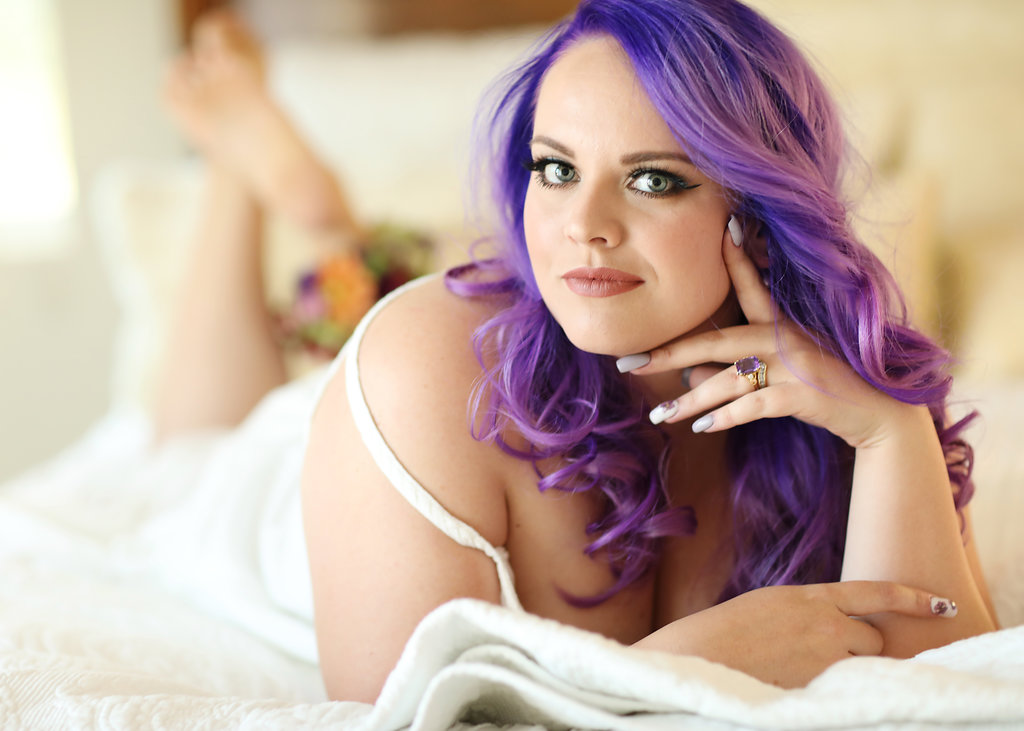 Amanda made the most perfect Ultra Violet haired bride we have ever seen.