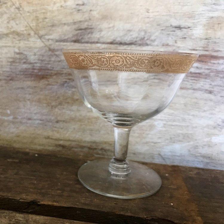 Gold Rimmed Goblets   Mismatched
