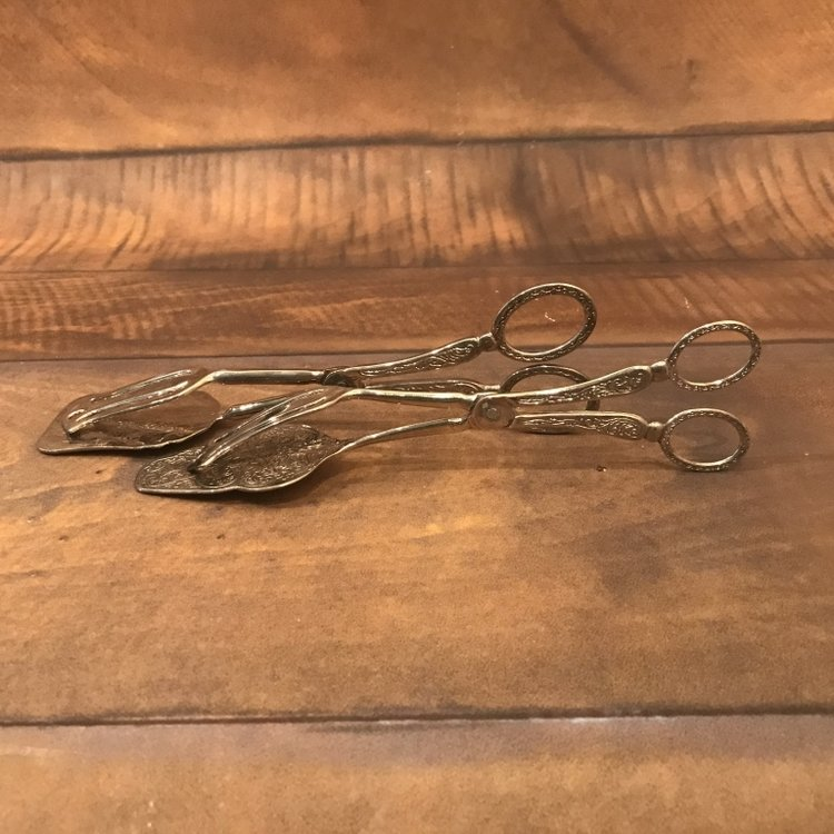 Sliver Dessert Tongs   Mismatched. Great for cookies, brownies, or other Tea Party treats!