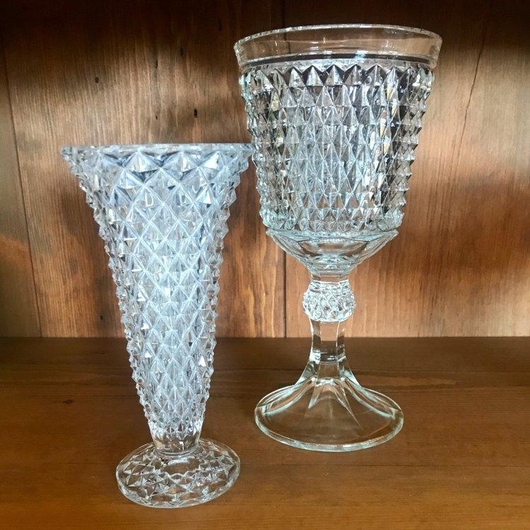 cut glass bridal bouquet holders.