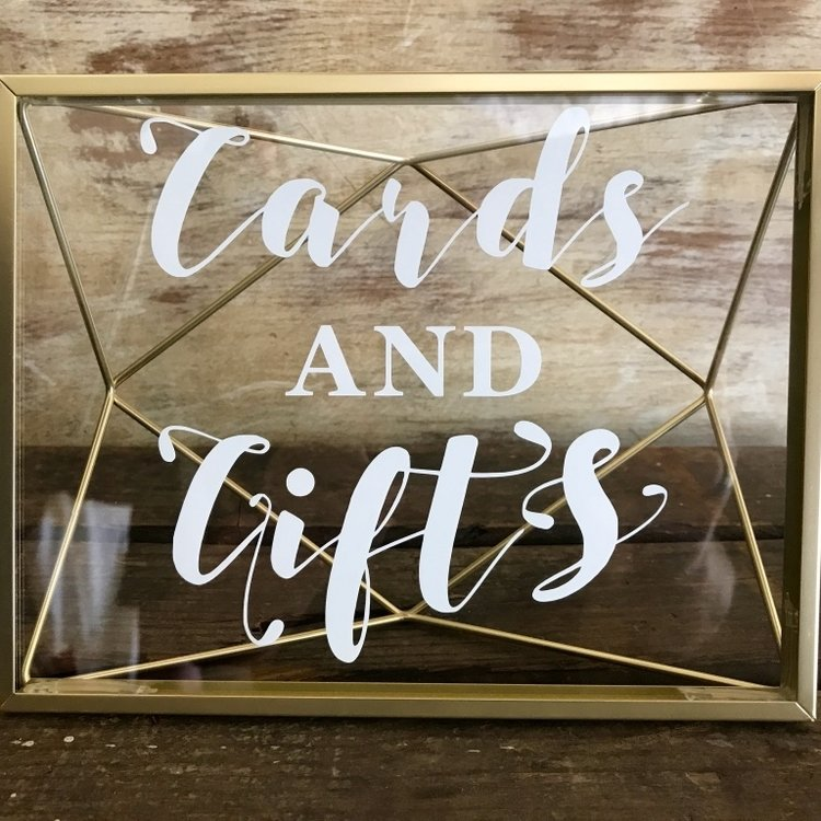 Geometric Cards and Gifts Sign