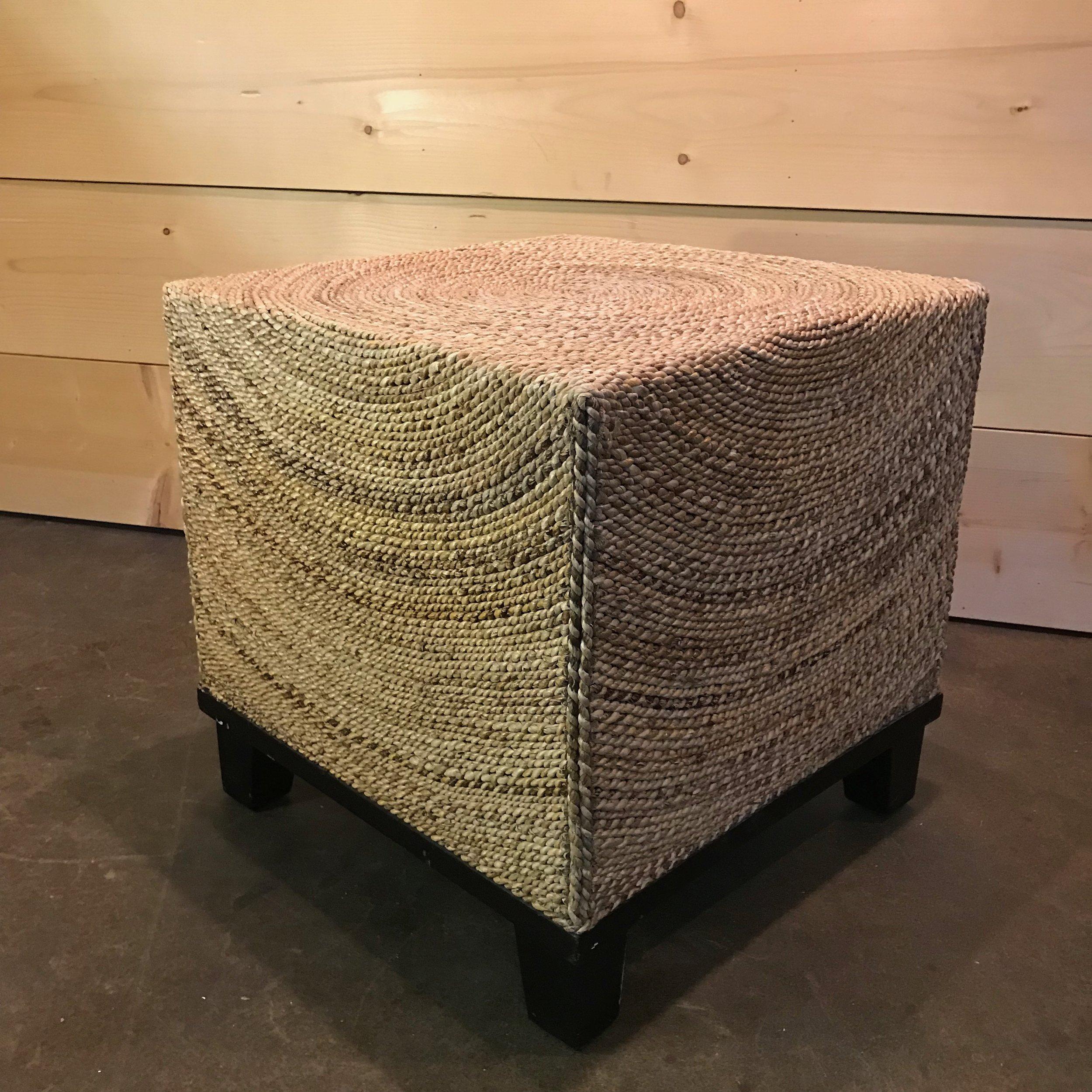 """Randy  Rattan stool 22"""" square x 22"""" tall."""