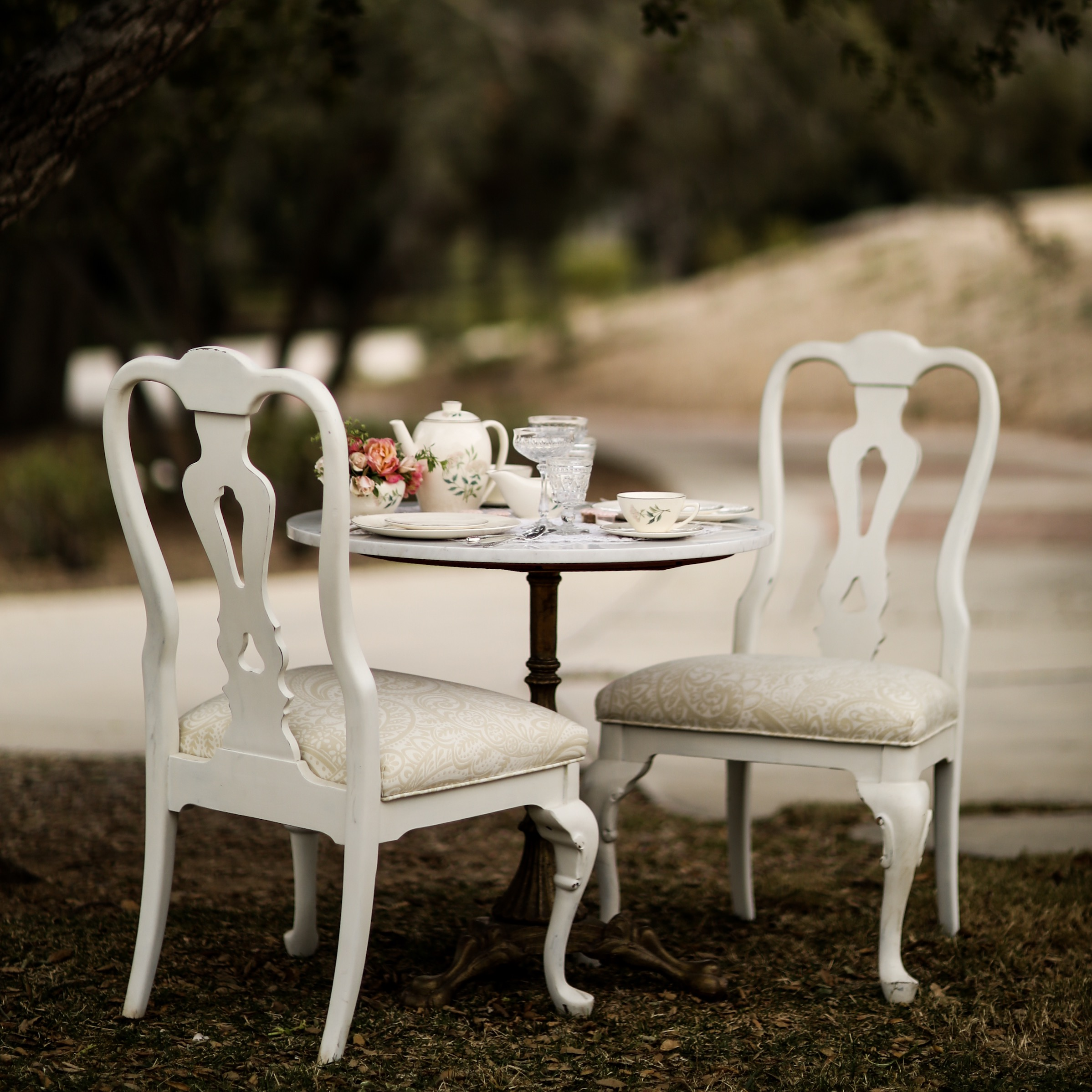 Vintage china and furniture rental for weddings, events, and parties. Wedding rentals in the Temecula Valley.