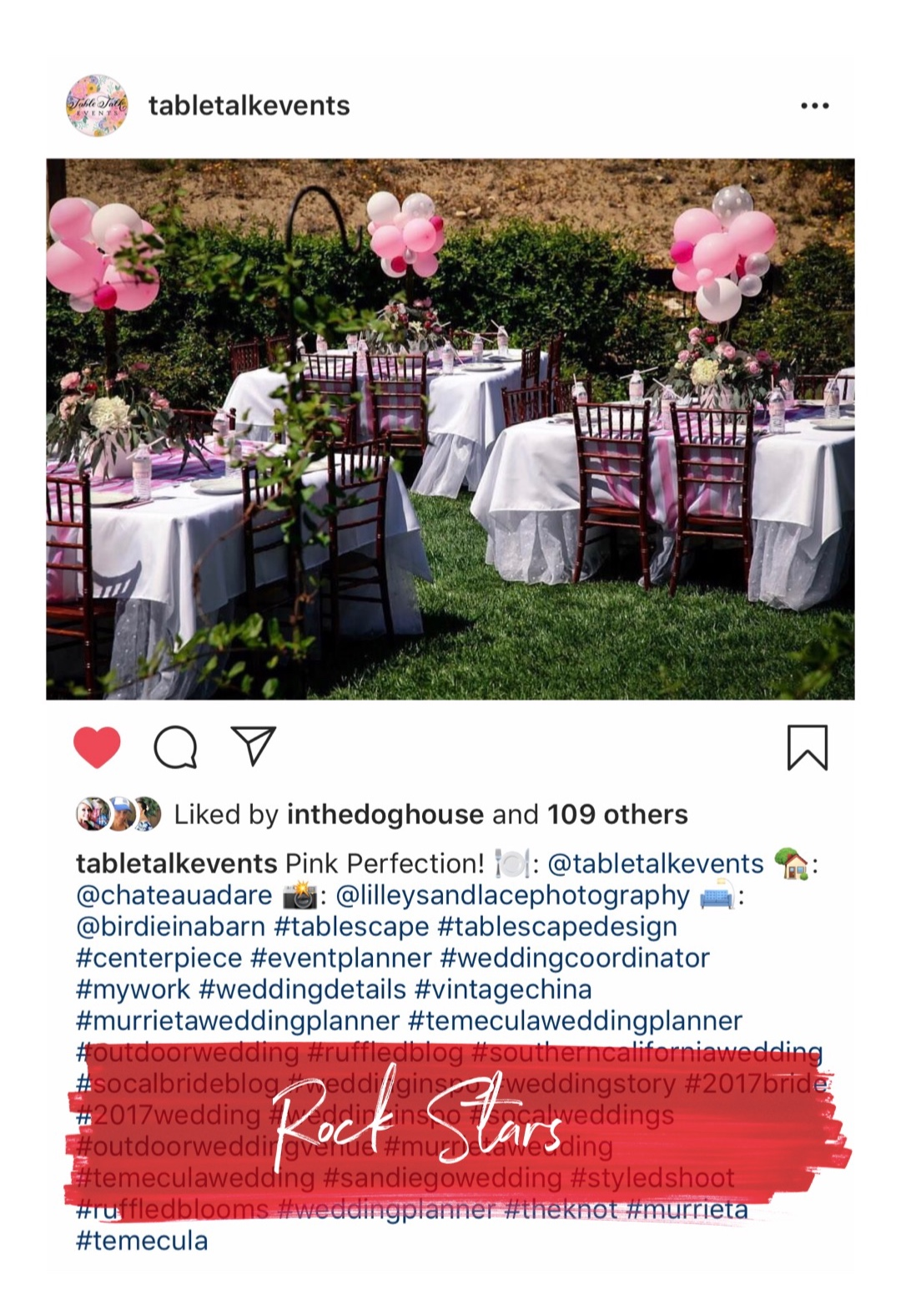 Table Talk Events is a premiere wedding and party planning company. It is located in the Temecula Valley, at Murrieta.