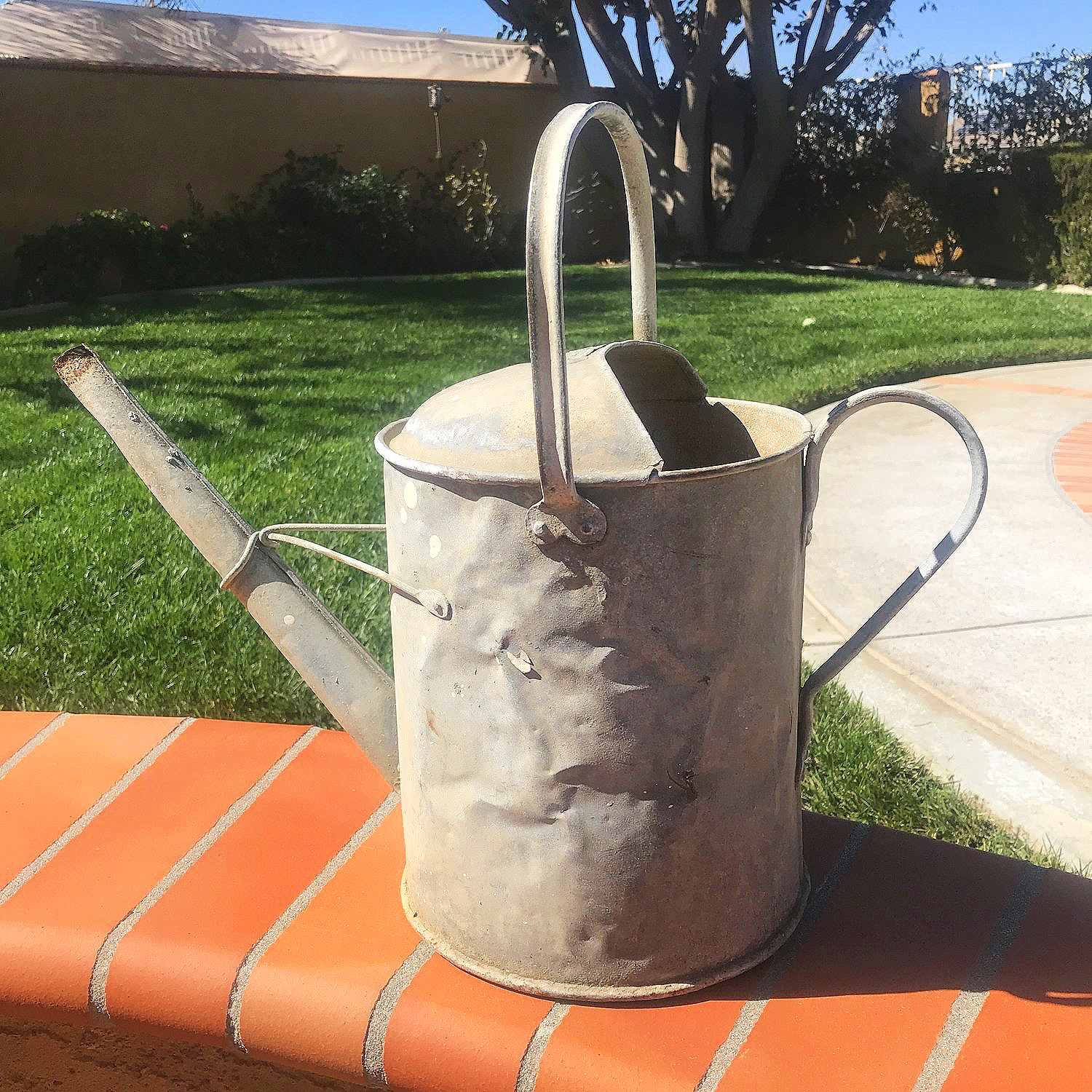 Vintage Watering Cans   Can be used alone, or add flowers to them for perfect centerpieces. Great for that vintage shabby chic affair.