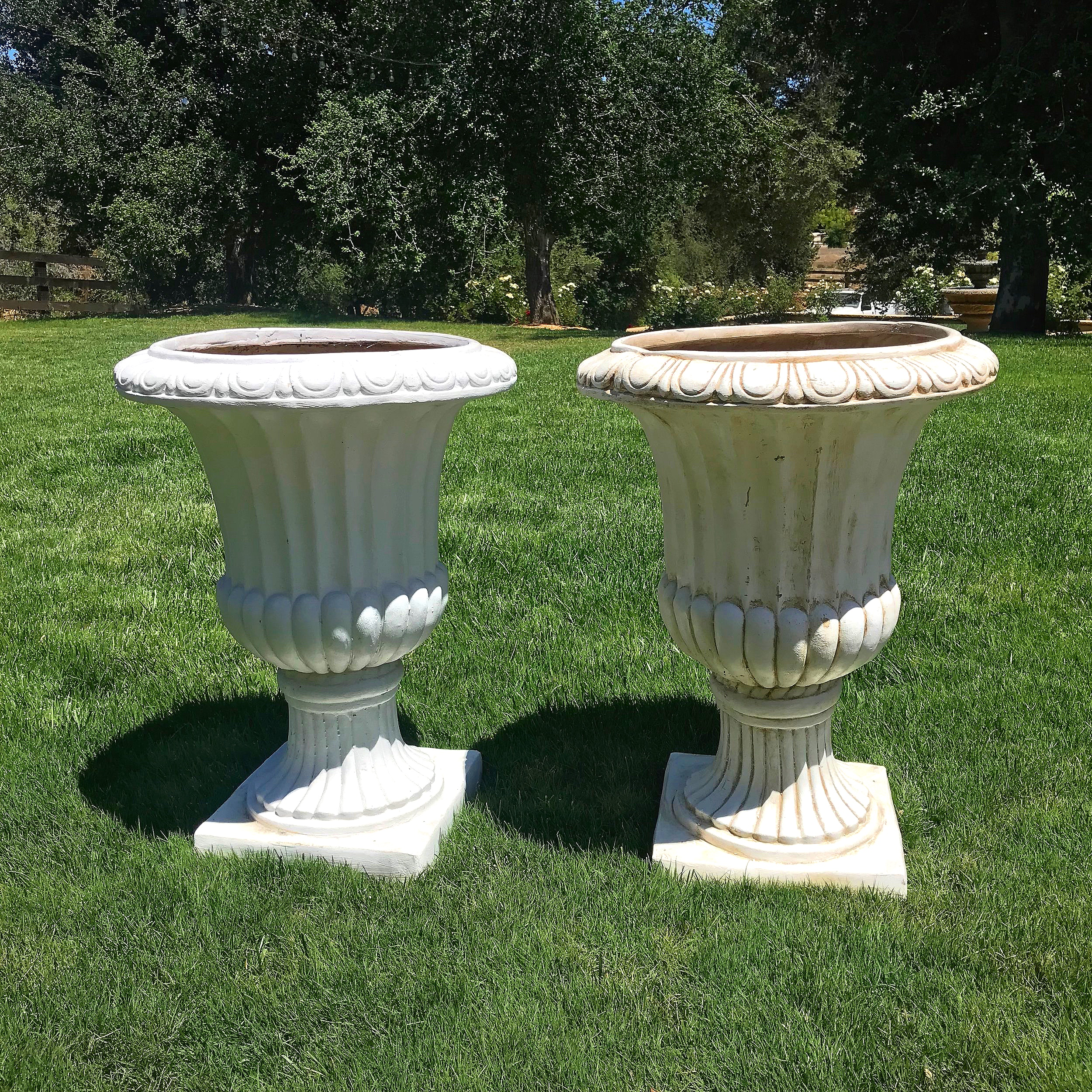Grecian Urns   Vintage urns for floral display, We have four of these.