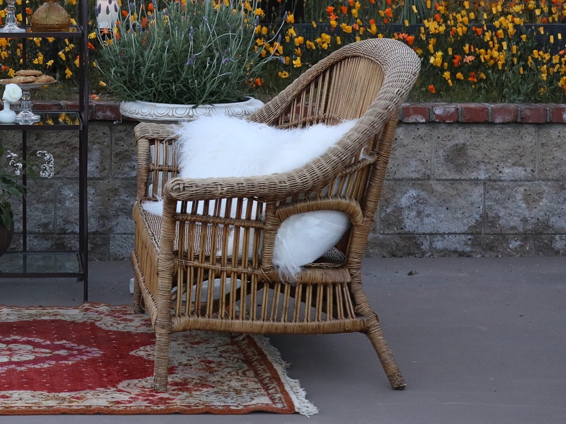 Vintage Wicker Loveseat