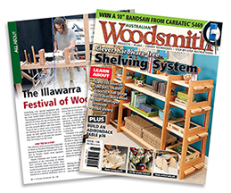 Read about the 2017 Illawarra Festival of Wood as featured in Australian Woodsmith -  CLICK TO READ ARTICLE