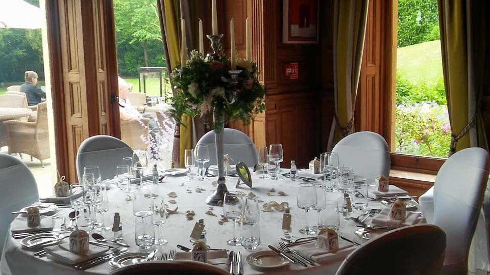 Wood Norton Hotel - White with Ivory Organza