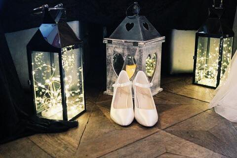 Bride Shoes White Wedding Fair Worcestershire