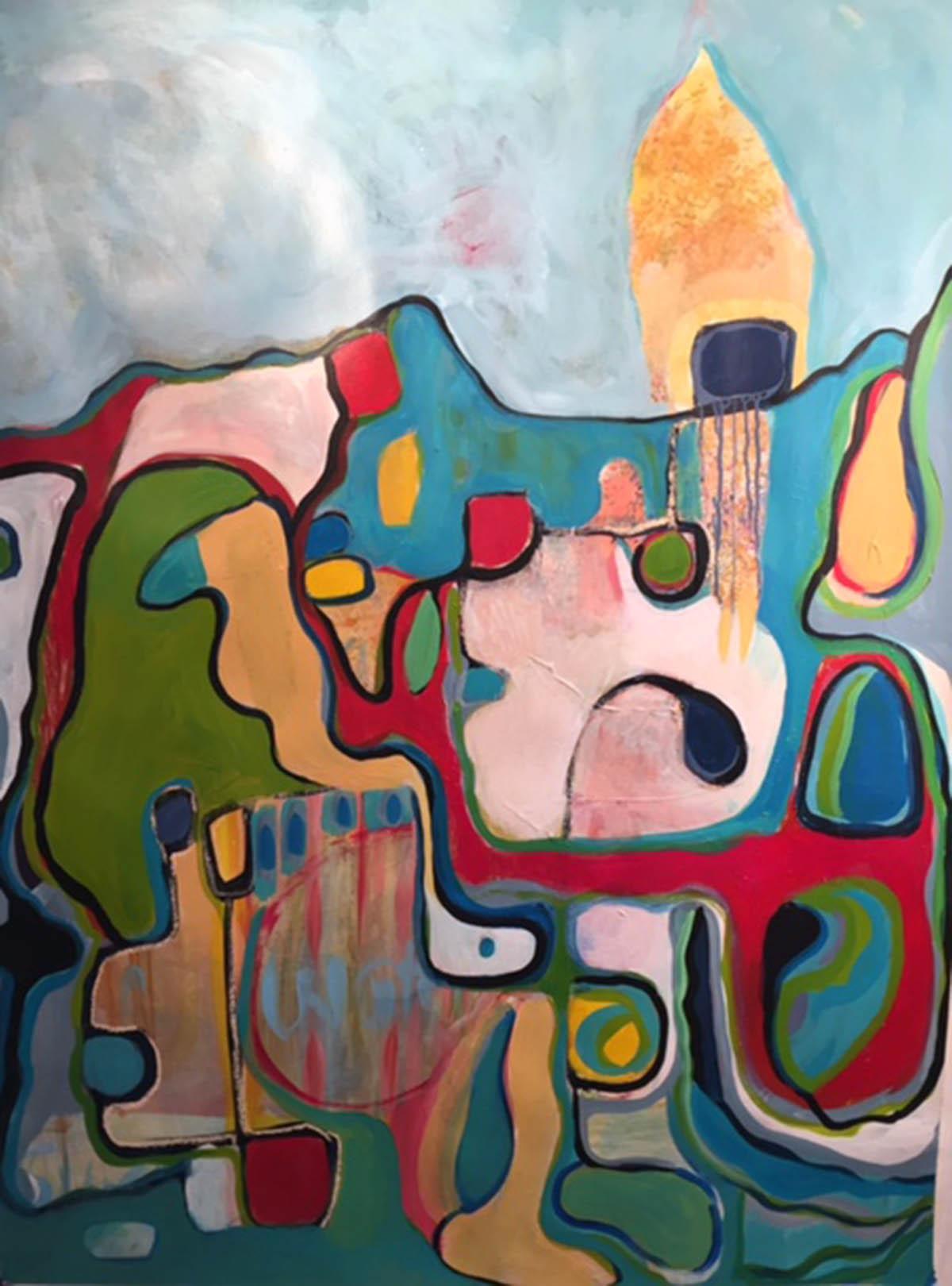 Middle Landscape 2016  Acrylic Paint on Paper