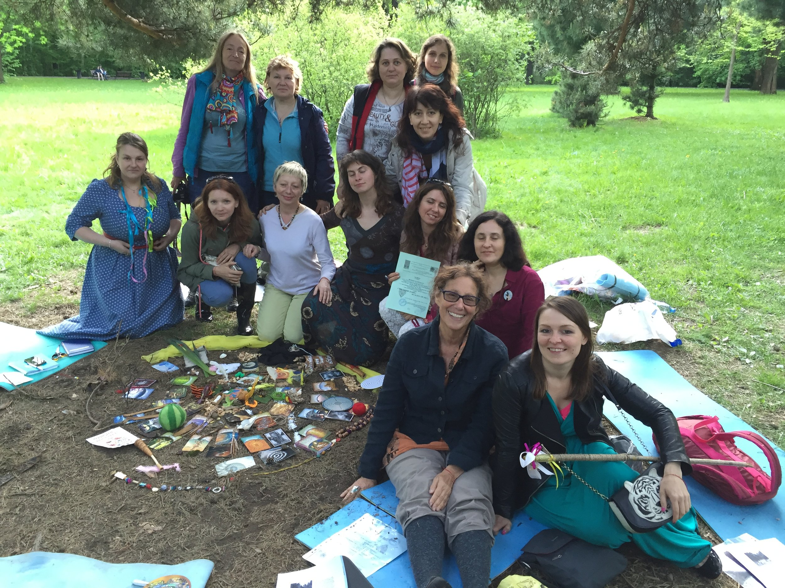 Eco- Art Therapy Workshop 2016  Moscow Botanical Gardens