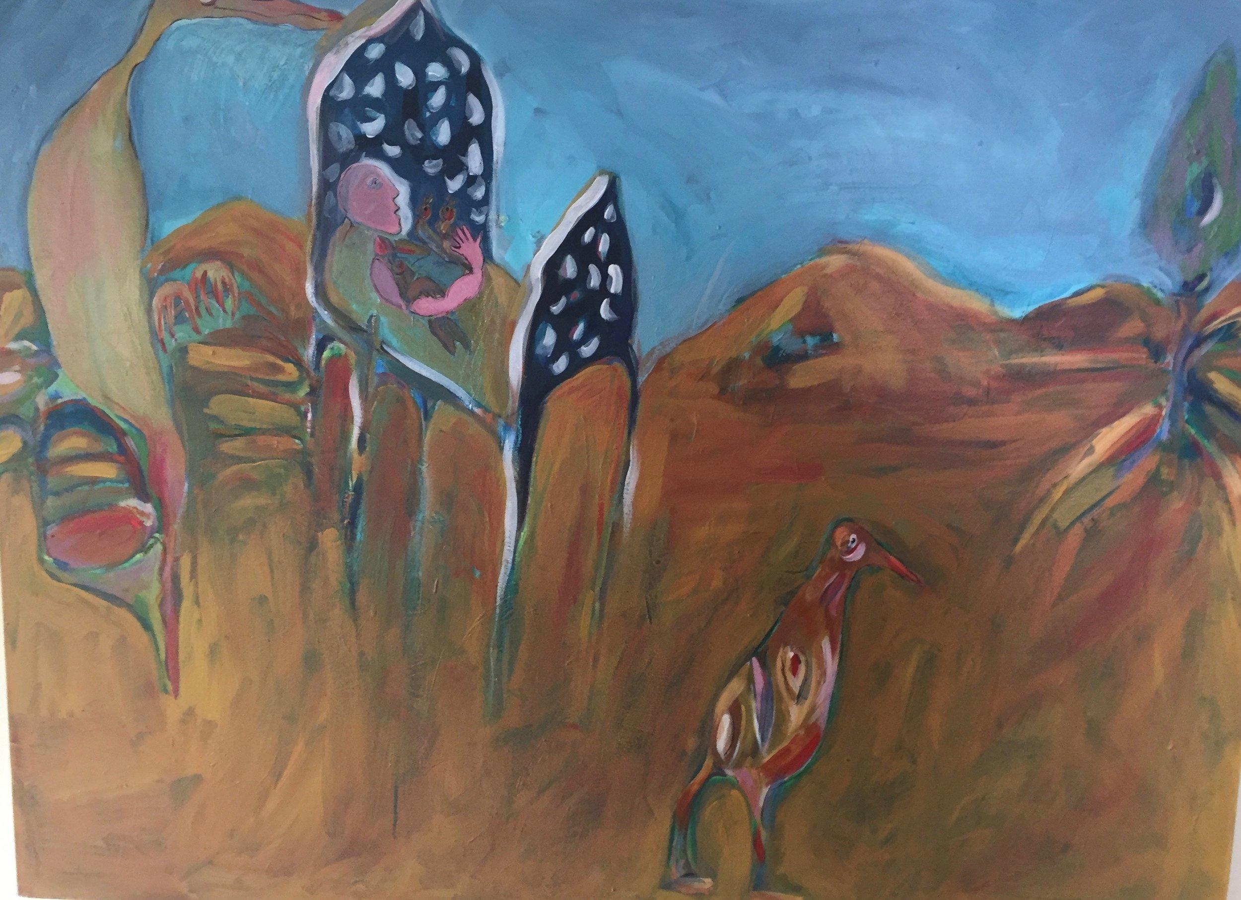 Leo's Dream  Acylic on canvas  NFS