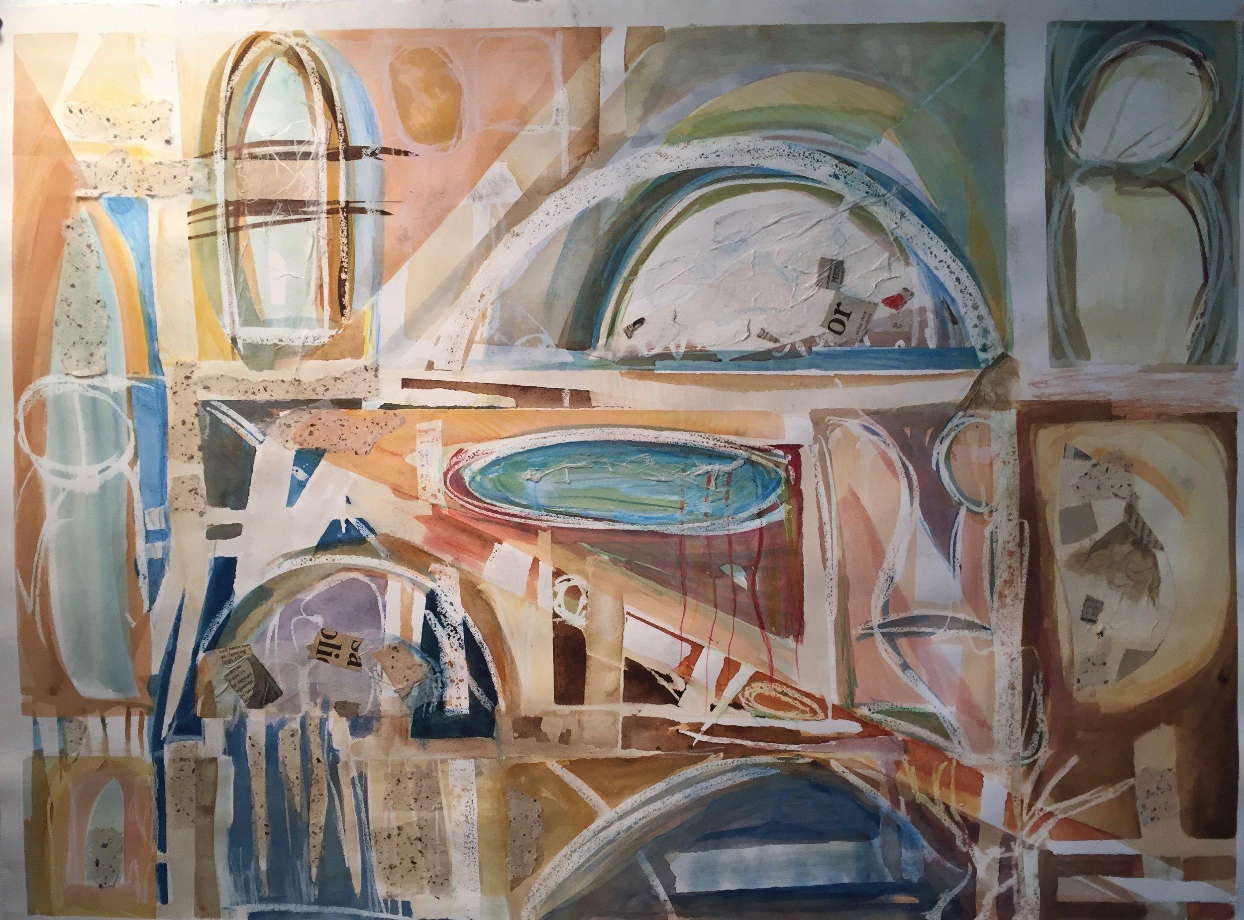 Urbanscape- 2015  Watercolor on paper