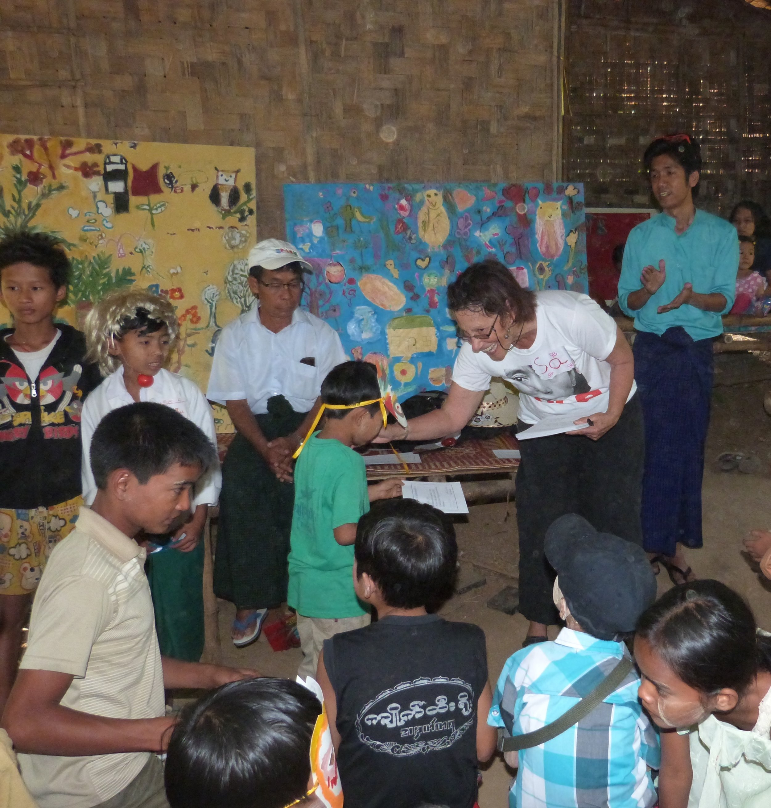 Giving out Certificate-2016  Burma