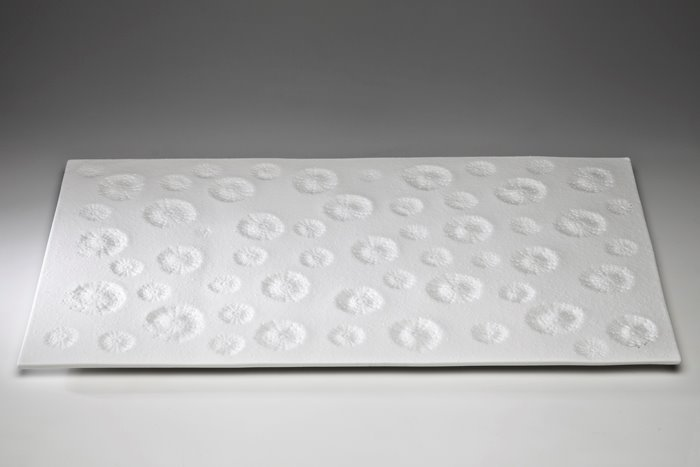 Sea Urchin (wall piece), 2013, Southern Ice porcelain, 53 x 31cm. Photo credit Uffe Schultze