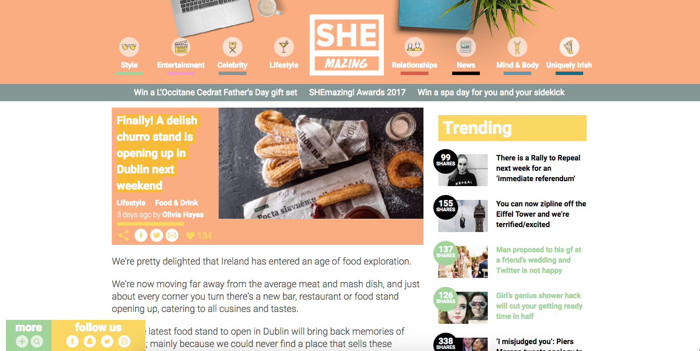 shemazing.net and churros