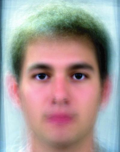Average male face