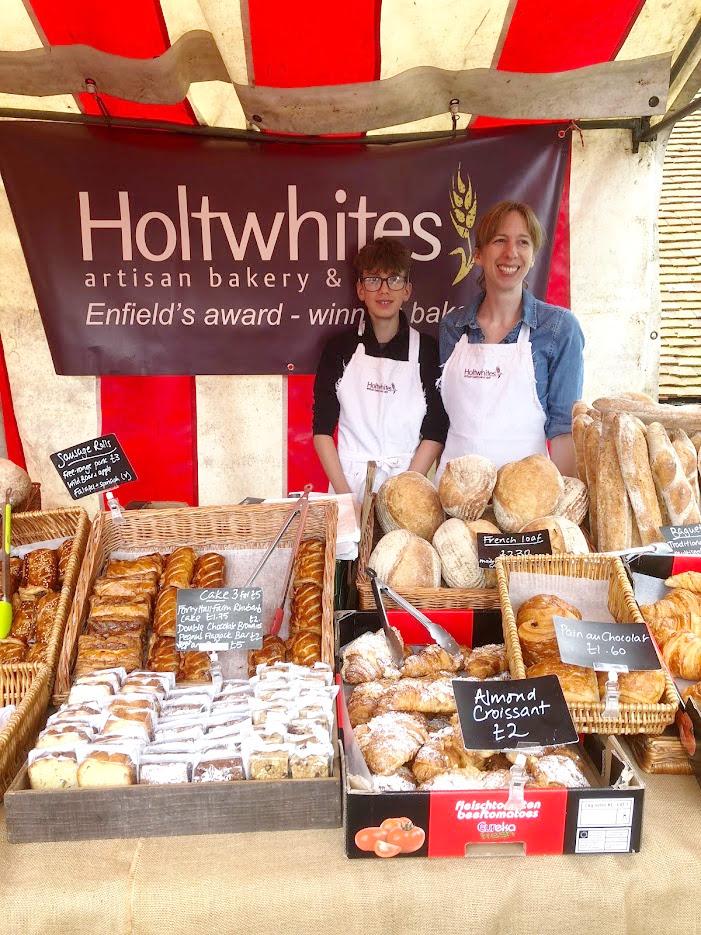 HOLTWHITES BAKERY (Sunday)   Enfield's award winning bakery. Top quality bread baked fresh that day.     http://www.holtwhitesbakery.co.uk/