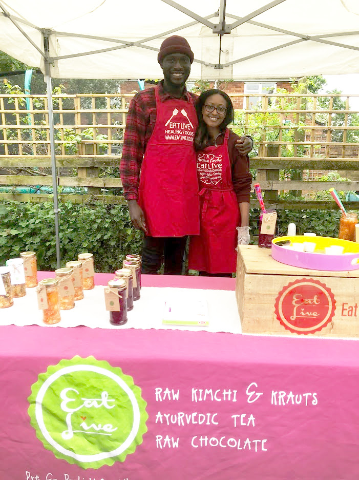 """EAT LIVE (Sunday )   Kimchi, krauts and ayurvedic tea, made in Enfield. """"My food and drink is the ultimate health hack! It doesn't just taste good, it does you good. Each tiny portion of kraut or tea produced contains many more vitamins and pro and prebiotics than you'd find in most supplements, and without anything synthetic- just real food!""""    http://www.eatlive.co.uk/"""
