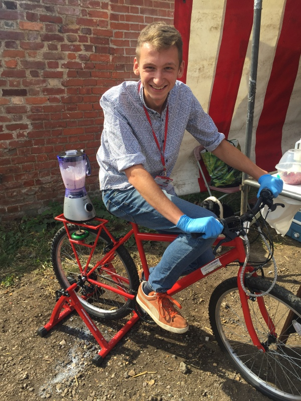 Power your own smoothie with the Smoothie Bike!